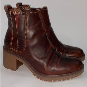 Timberland Ortholite waxed leather ankle boots 6